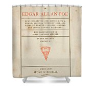 The Works Of Edgar Allan Poe Shower Curtain