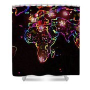 The World At Night  Shower Curtain