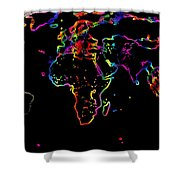 The World In The Past Shower Curtain by Augusta Stylianou