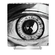 The World Is In The Eye Of The Beholder. Shower Curtain