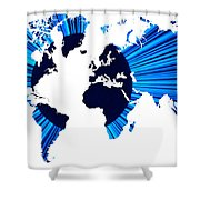 The World Map And Globe Shower Curtain