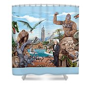 The World Of Willis O'brien Shower Curtain