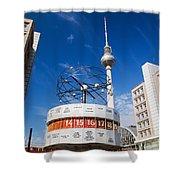 The Worldtime Clock Alexanderplatz Berlin Germany Shower Curtain