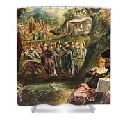 The Worship Of The Golden Calf Shower Curtain