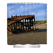 The Wreck Of The Peter Iredale - Oregon Shower Curtain