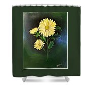 The Yellow Daisy Shower Curtain