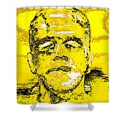 The Yellow Monster Shower Curtain