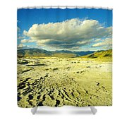 The Yellow Rock Of Yellowstone Shower Curtain