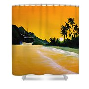 The Yellow Sea Shower Curtain