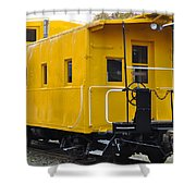 The Yellow Train Shower Curtain