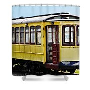 The Yellow Trolley Car Shower Curtain