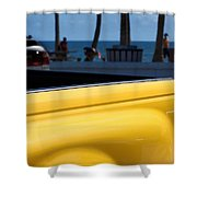 The Yellow Truck Shower Curtain