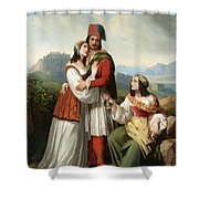 The Young Man's Farewell Shower Curtain