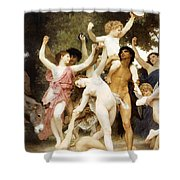 The Youth Of Bacchus Detail Shower Curtain