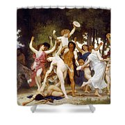 The Youth Of Bacchus Shower Curtain