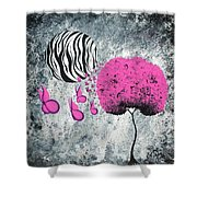 The Zebra Effect 1 Shower Curtain by Oddball Art Co by Lizzy Love