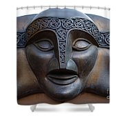 Theater Mask Shower Curtain