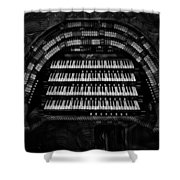Theater Organ Shower Curtain by Jack Zulli