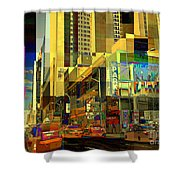 Theatre District - Neighborhoods Of New York City Shower Curtain