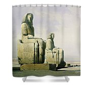 Thebes Shower Curtain by David Roberts