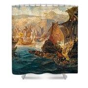 The Crusader Invasion Of Constantinople Shower Curtain