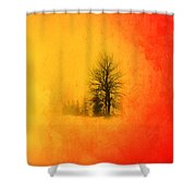 Thee Tree  Shower Curtain