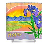 Themes Of The Heart-hope Shower Curtain