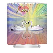 Themes Of The Heart-love Shower Curtain