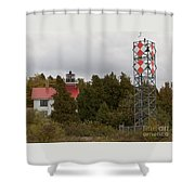Grand Traverse Lights - Then And Now Shower Curtain