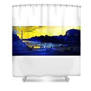 Then The Light Came Swiftly Shower Curtain by Kevyn Bashore