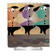 Then There Were Three Shower Curtain