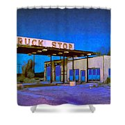 Then They Built The Interstate Shower Curtain