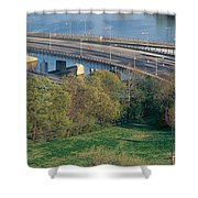 Theodore Roosevelt Bridge, Washington Shower Curtain