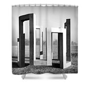 Theoretical Position Shower Curtain