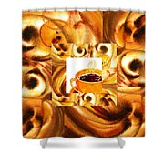 There Is A Coffee At The End Of The Tunnel  Shower Curtain