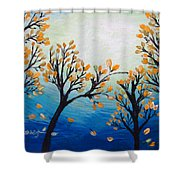 There Is Calmness In The Gentle Breeze Shower Curtain