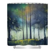 There Is Light At The End Of The Woods Shower Curtain