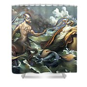 There's Something Fowl Afloat Shower Curtain
