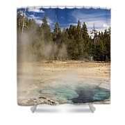 Thermal Landscape Shower Curtain