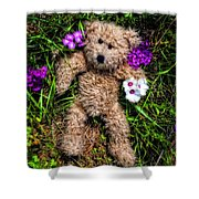These Are For You - Cute Teddy Bear Art By William Patrick And Sharon Cummings Shower Curtain