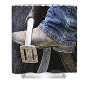 These Boots Are Made For Working Shower Curtain