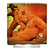 Theseus And The Minotaur Shower Curtain