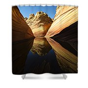 The Wave Reflected Beauty 1 Shower Curtain
