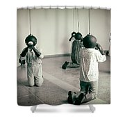 They Are Here  Shower Curtain