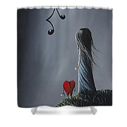 They Feel Your Love Song - Surreal Art By Shawna Erback Shower Curtain by Shawna Erback