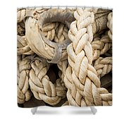 Braided Rope With Eyelet Shower Curtain