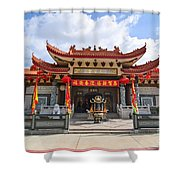Thien Hau Temple A Taoist Temple In Chinatown Of Los Angeles. Shower Curtain