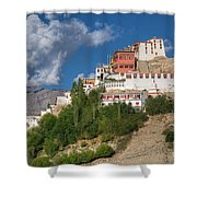 Thiksay Monastery Ladakh Jammu And Kashmir India Shower Curtain