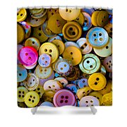 Thimble And Needle Shower Curtain