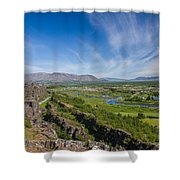 Thingvellir Iceland Shower Curtain